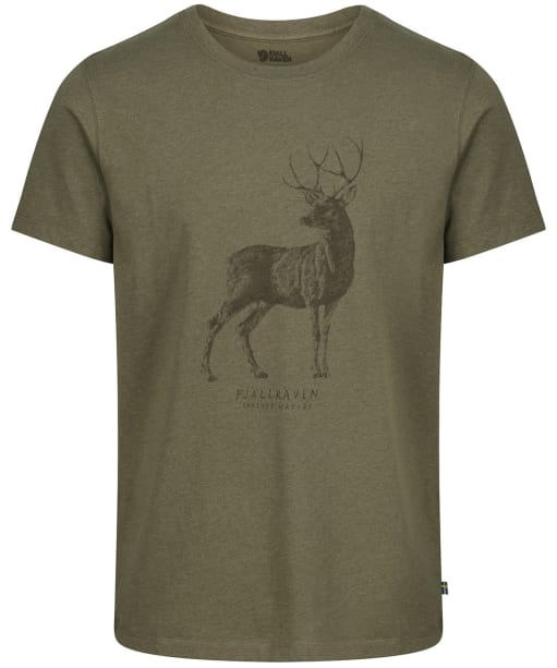 Men's Fjallraven Deer Print T-Shirt - Tarmac