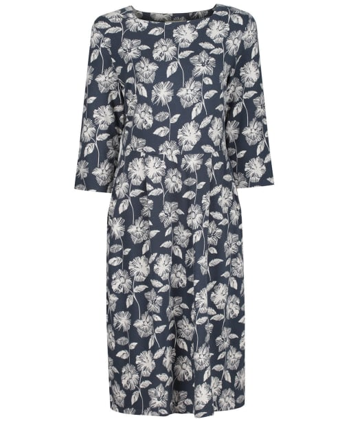 Women's Seasalt Tamsin Dress - Sketched Flowers Granite