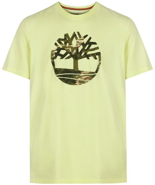 Men's Timberland Kennebec River Seasonal Pattern Tree Logo Tee - Luminary Green