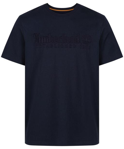 Men's Timberland Outdoor Heritage Linear Logo Tee - Dark Navy