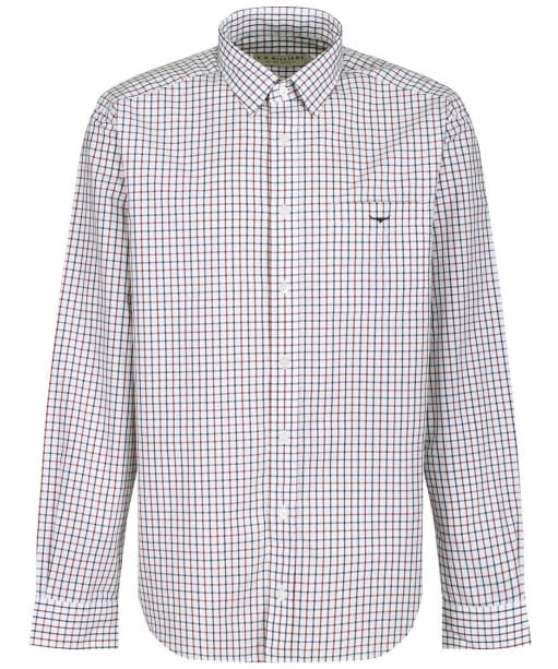 Men's R.M. Williams Collins Shirt - White / Blue / Rust