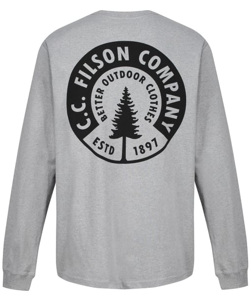 Men's Filson L/S Pioneer Graphic T-Shirt - Heather Grey