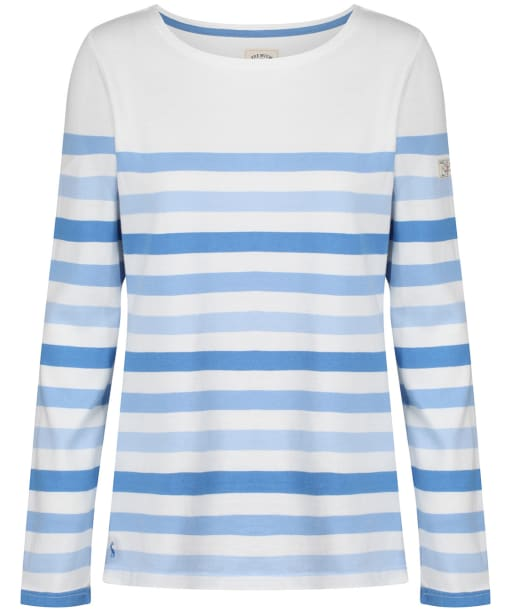 Women's Joules Harbour Long Sleeve Top - Cream Stripe