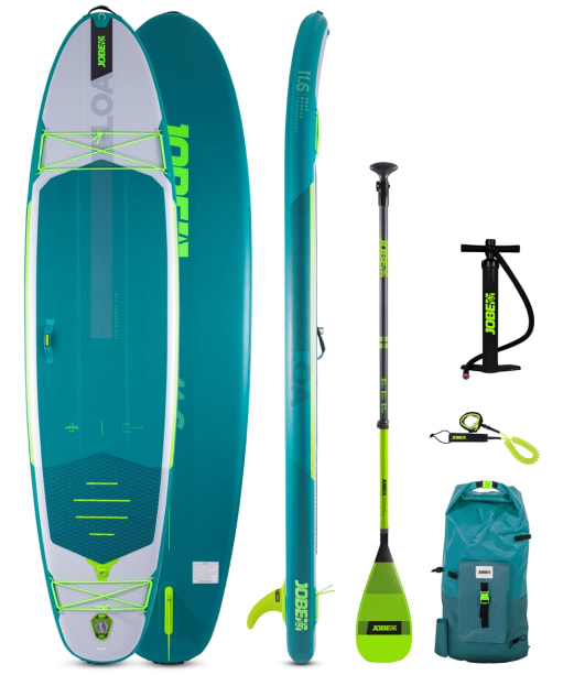 Jobe Loa 11.6 Inflatable Paddle Board Package - Teal