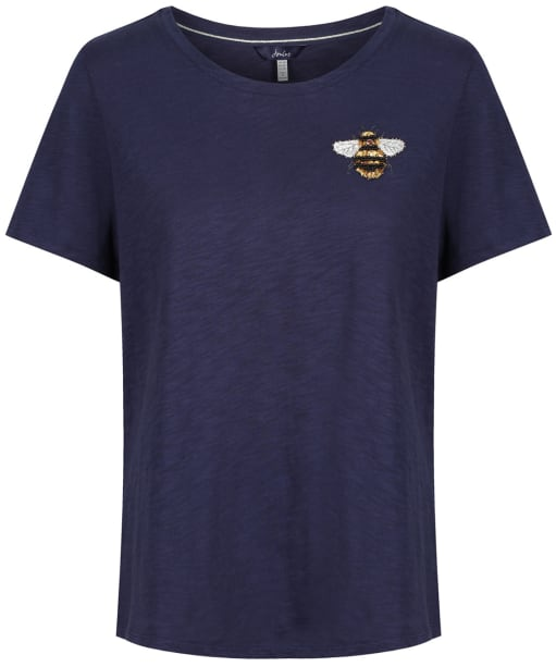 Women's Joules Carley Print T-Shirt - FRENCH NAVY BEE