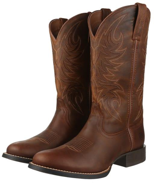 Men's Ariat Sport Horseman Boots - Rafter Tan