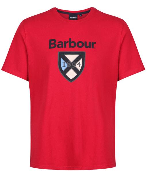 Men's Barbour Crest 1894 Tee - Rich Red