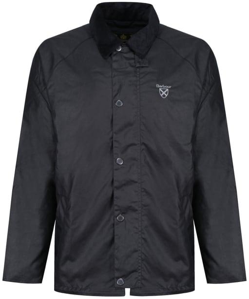 Men's Barbour Crest Wax Jacket - Navy