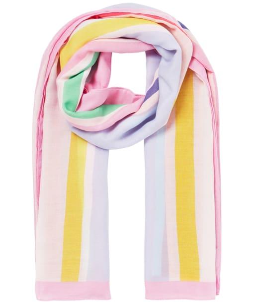 Women's Joules River Scarf - Pink Multi Stripe