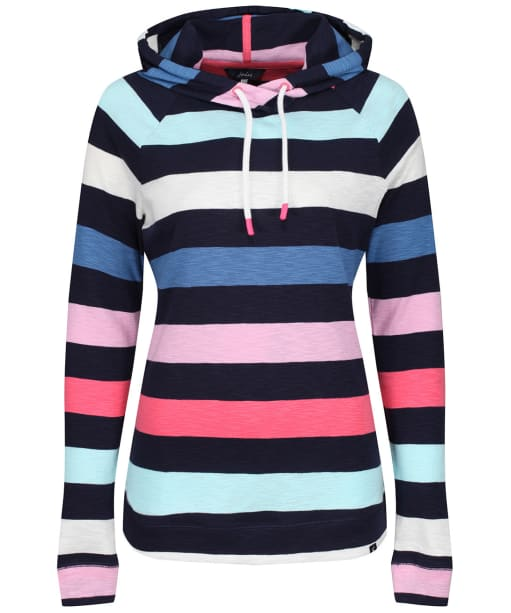 Women's Joules Marlston Stripe Sweatshirt - French Navy Multi