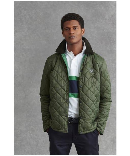 Men's Barbour Crest Quilted Jacket - Olive