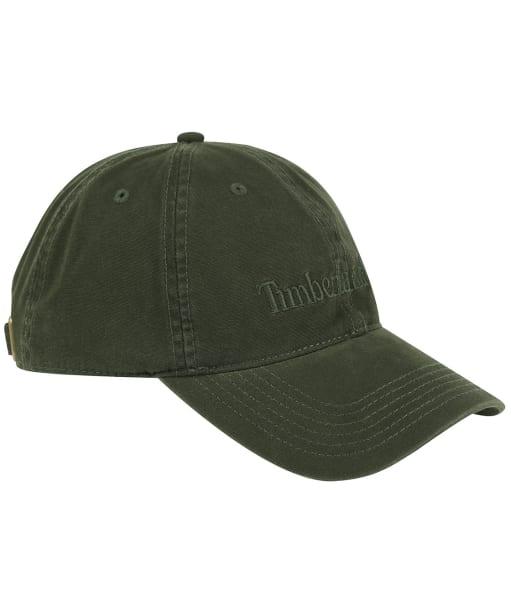 Men's Timberland Cotton Canvas Baseball Cap - Dark Green