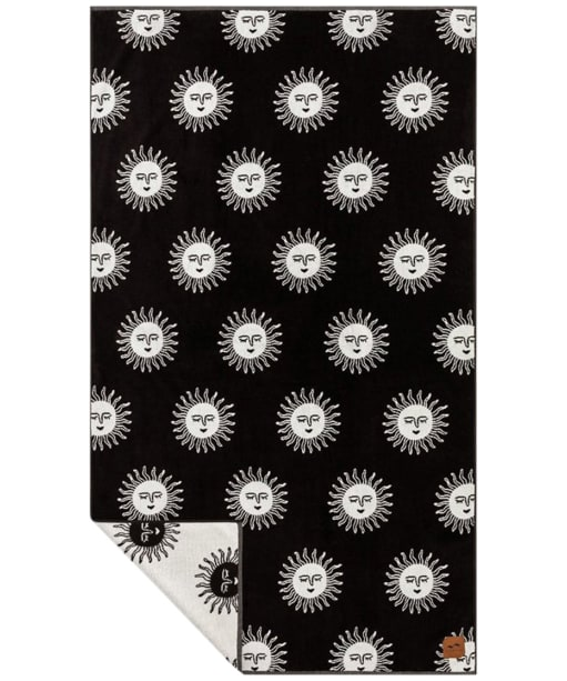 Slowtide Slow Burn Woven Beach Towel - Black