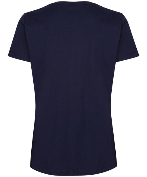 Women's GANT Lock Up T-Shirt - Evening Blue