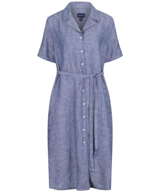 Women's GANT Linen Chambray Shirt Dress - Persian Blue