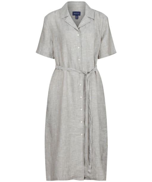 Women's GANT Linen Chambray Shirt Dress - Aloe Green