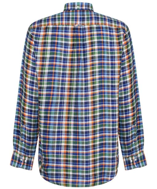 Men's GANT Regular Linen Madras Shirt - Birch Green