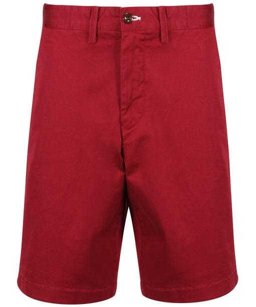Men's GANT Relaxed Twill Shorts - Mahogany Red