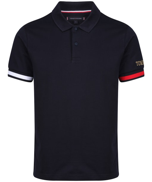 Men's Tommy Hilfiger Flag Cuff Slim Polo Shirt - Desert Sky