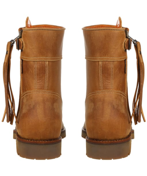 Women's Penelope Chilvers Cropped Leather Tassel Boots - Biscuit