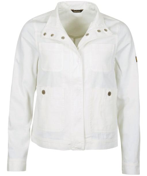 Women's Barbour International Reine Casual Jacket - Optic White