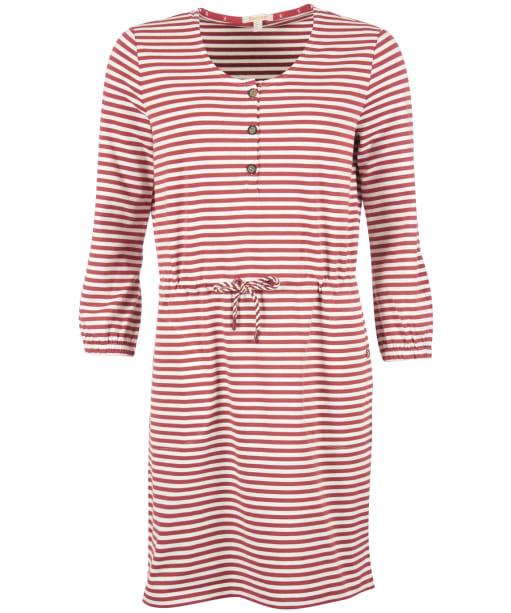 Women's Barbour Mersery Dress - MULBERRY/CLOUD