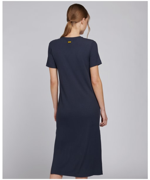 Women's Barbour International Manali Dress - Metallic Blue