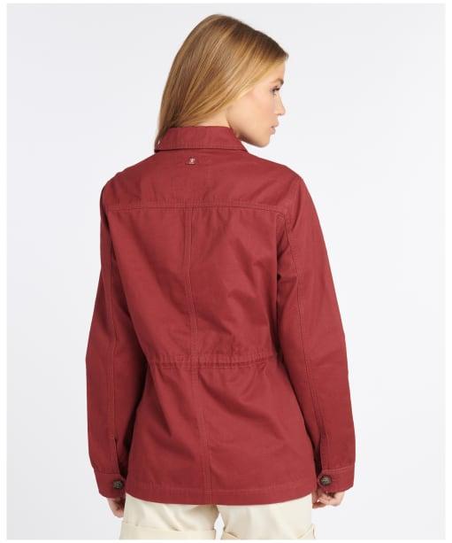 Women's Barbour Saltwater Overshirt - Mulberry