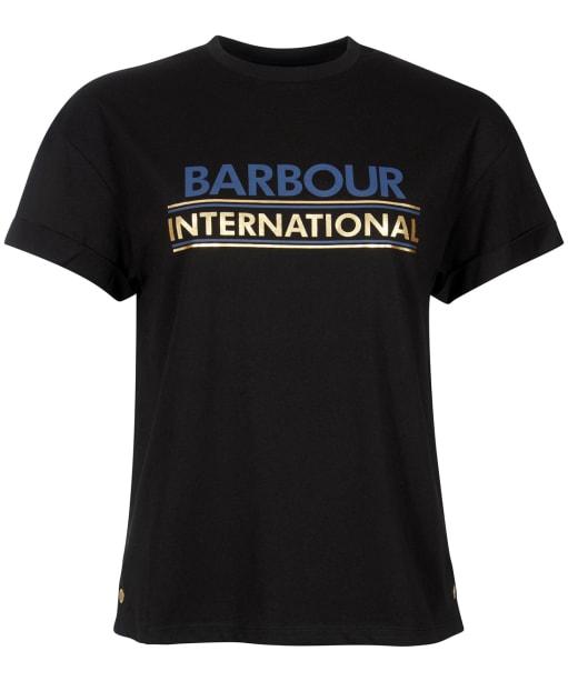 Women's Barbour International Sitka Tee - Black
