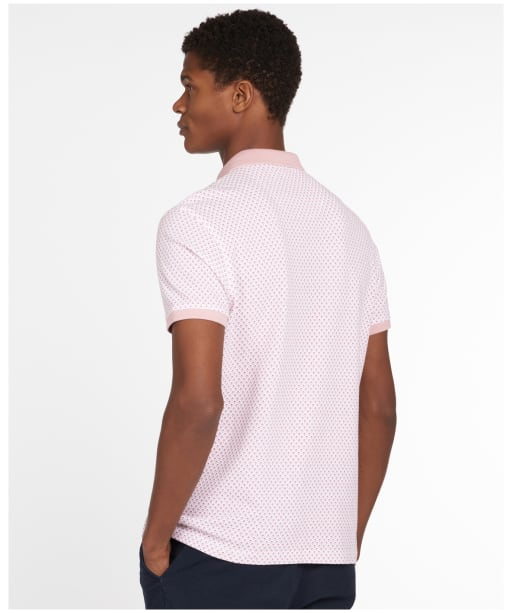 Men's Barbour Chris Printed Polo Shirt - FADED PINK