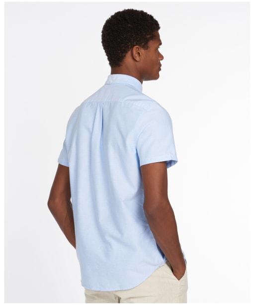 Men's Barbour Oxford 3 Short Sleeved Tailored Shirt - Sky