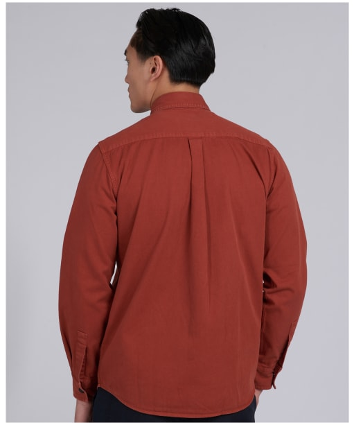 Men's Barbour International Garment Dyed Shirt - ROOT RED
