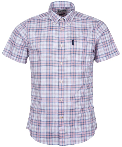 Men's Barbour Country Check 22 S/S Tailored Shirt - Faded Pink Check