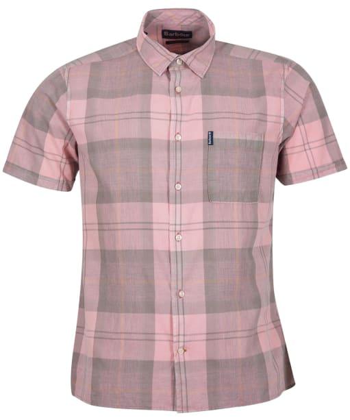 Men's Barbour Tartan 17 S/S Summer Shirt - FADED PINK
