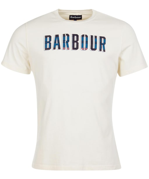 Men's Barbour Lomand Logo Tee - Antique White
