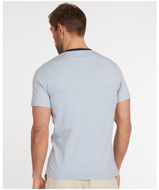 Men's Barbour Seaford Panel Tee - Blue Mist