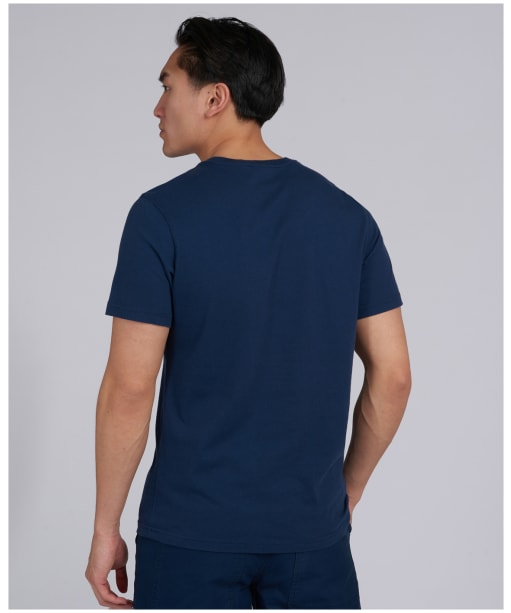 Men's Barbour International Archive Checkers Tee - Dress Blue
