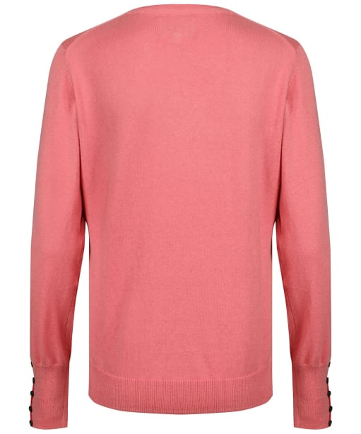 Women's Schoffel Cotton Cashmere V-Neck Sweater - Rose