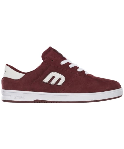 Women's etnies Lo-Cut Skate Shoes - Burgundy / White