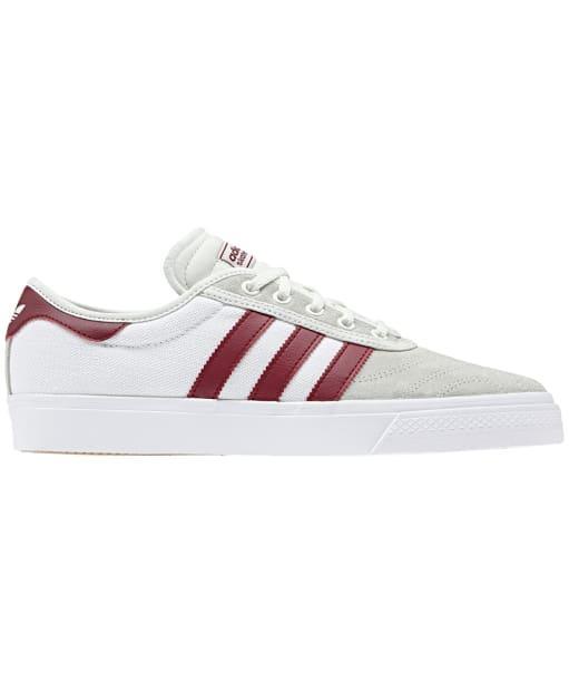 Women's Adidas Adi-Ease Premiere Skate Shoes - White / Burgundy / White