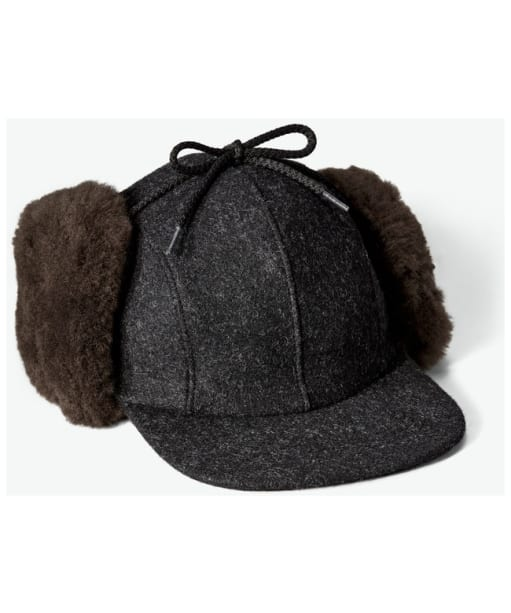 Filson Double Mackinaw Cap - Charcoal / Dark Brown