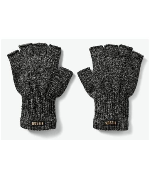 Filson Fingerless Knit Gloves - Charcoal