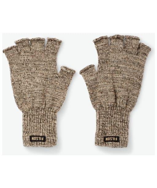 Filson Fingerless Knit Gloves - Root Heather