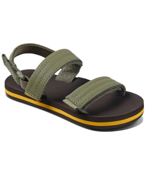 Boy's Reef Little Ahi Convertible Sandals  - Kids - Brown / Olive