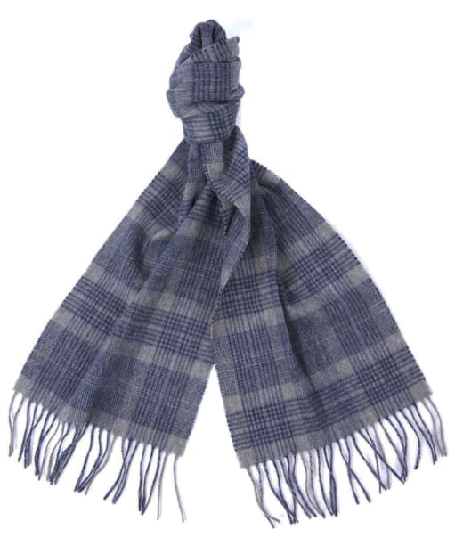 Barbour Two Tone Tartan Scarf - Blue / Grey