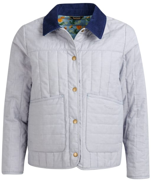 Women's Barbour x Emma Bridgewater Meadows Quilted Jacket - Chambray