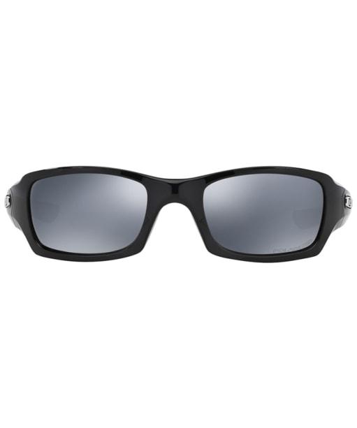 Oakley Fives Squared® Black Iridium Polarized Sunglasses - Polished Black