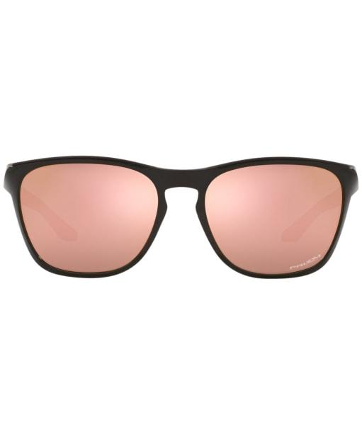 Oakley Manorburn Prizm Rose Gold Sunglasses - Polished Black