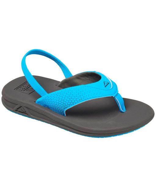 Boy's Reef Grom Rover Flip Flops - Littles - Grey / Blue
