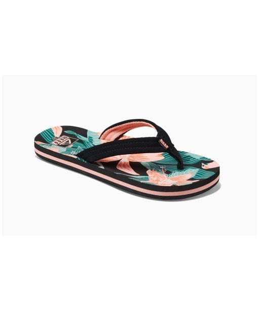 Girl's Reef Ahi 2020 Flip Flops - Kids - Hibiscus